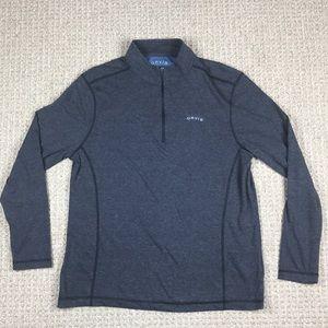 Men's Orvis 1/4 zip pullover gray size medium